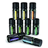 Essential Oils Set, Anjou 9 x 5mL 100% Pure Therapeutic Grade Scented Oils Includes Tea Tree, Lavender, Frankincense, Lemongrass, Sweet Orange, Peppermint, Eucalyptus, Lemon and Ylang Ylang