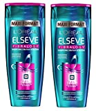 L'Oréal Paris Elvive Shampoo Fibralogy capelli fini 400ml Set di 2
