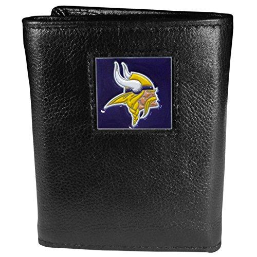 Siskiyou Gifts Co, Inc. NFL Herren Geldbörse Leder dreifach gefaltet, Herren, Minnesota Vikings, One Size Fits All (Geburtstag Minnesota Vikings)