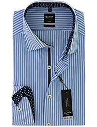OLYMP - Chemise business - À Rayures - Col Chemise Classique - Manches Longues - Homme