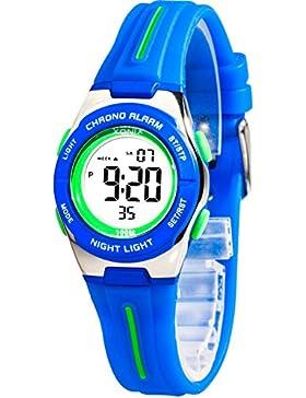 Kleine sportliche Armbanduhr digital XONIX Damen Kinder WR100m, 6D81JU2/4