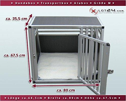 hundeinfo24.de Hundebox / Alubox / Hundetransportbox / Autobox + Einlegematte Inbus-Verschraubung Größe M