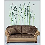 Gloob Decal Style Bamboo Wall Sticker For Kids Room |Living Room|Bedroom|Office PVC Vinyl Art Decals(44X48 Inch)