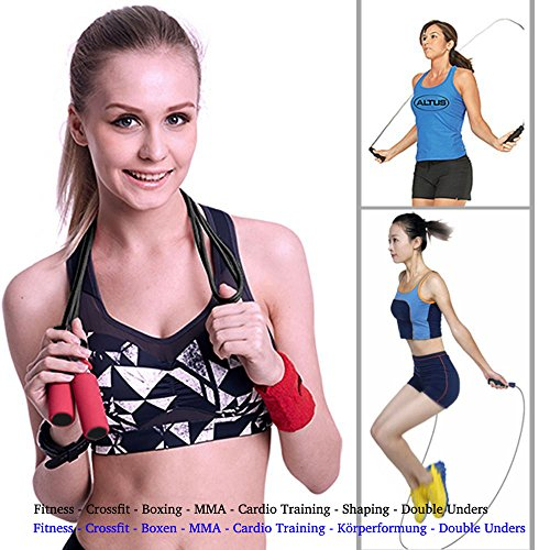 Homello Skipping Rope Premium Speed Jump Rope – Durable Steel Cable – Comfortable Anti-Slip Handles – Easily Adjustable – Tangle Resistant – Perfect for All Experience Levels, Cardio, Home Workouts, Cross Fitness, Weight-loss, Boxing, Gym & More