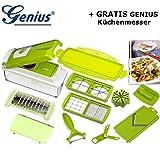 Genius Nicer Dicer Plus 13tlg KIWI & GRATIS MESSER