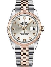 rolex datejust setzt 36 116231 stahl rose gold diamant luxus armbanduhr