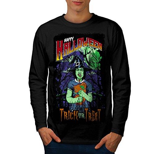Halloween Hexe Horror Herren M Langarm-T-Shirt | (Kostüm Halloween Auf Der Flucht)