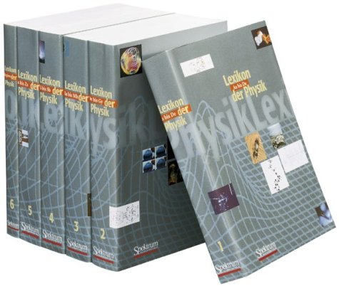 Lexikon der Physik - Sonderausgabe: Buch-Gesamtausgabe, 5 Bände + 1 Registerband (Sav Physik/Astronomie)