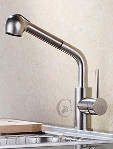 Kupferkessel Spülbecken Dual-Use-Europäischen Stil Gebürstet Pull Heißen Und Kalten Waschbecken Wasserhahn Mit Dusche Edelstahl Badezimmer - Wasserhahn, Dusche Spüle, Konverter