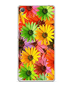 FUSON Designer Back Case Cover for Sony Xperia X :: Sony Xperia X Dual F5122 (Multi Colour Flowers Fool Pushp)