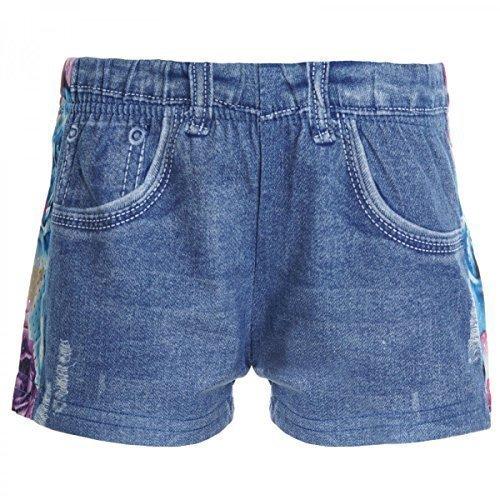 Kinder Mädchen Kurze Hose Bermuda Shorts Sommer Capri Pump Pants Jeans 20360, Farbe:Blau;Größe:128