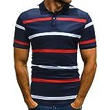 399b9ea719 Fannyfuny camiseta Hombre Camiseta Hombre Manga Corta Hombres Camiseta para Hombre  Verano a Raya Camiseta Básica de Manga Corta de Calidad Diseño Original ...