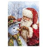BaZhaHei 5D Weihnachtsmann Diamant Malerei Stickerei Gemälde Strass eingefügt DIY Kreuzstich Stickerei Vollbohrer Home Schneemann Christmas Diamant-Zeichnung