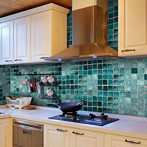 (MUCHENG 20x500 cm PVC Wandaufkleber Badezimmer Wasserdichte Selbstklebende Tapete Küche Mosaik Fliesen Aufkleber Wände Aufkleber Dekoration)