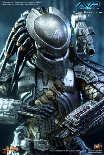 "[Movie Masterpiece] ""AVP"" 1/6 scale figure Scar Predator (Version 2.0) (japan import) 3"