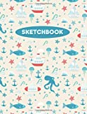 """Sketchbook: Boats and Sealife: 120 Pages of 8.5"""" x 11"""" Blank Paper for Drawing, Sketching and Doodling (Sketchbook for Kids)"""