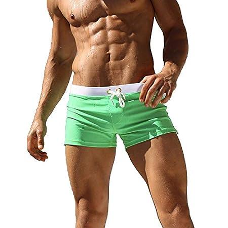 Gfirmament Pantalon de bain pour homme pour homme maillots de bain short fin Porter avec poche à fermeture éclair