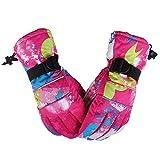createjia Skihandschuhe Herren Damen Fahrrad Handschuhe Radsport Handschuhe Warm Vollfinger Fahrradhandschuhe Mountainbike Handschuhe Rutschfeste Sporthandschuhe Winddicht Wasserabweisend Gloves