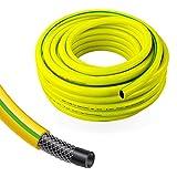 Stabilo-Sanitaer Profi Gartenschlauch Durchmesser: 13mm (1/2 Zoll) Länge: 25m | 3-lagiger Wasserschlauch Gelb | Qualitätsschlauch | Allzweckschlauch