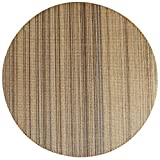 Tappeto sisal Rotondo Rigato Cucito a Mano Soggiorno tavolino Divano Studio Tappetino (Dimensioni : 100cm)