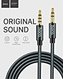 #10: CABLESETC HOCO UPA04 AUX Cable with Built in Microphone Hotline 3.5mm Male to Male in Line Car Stereo AUX + Mic Audio Cable Wire 1m