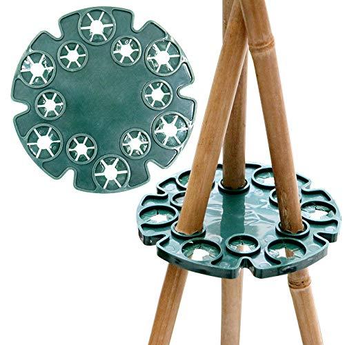 5pcs bamboo wig-wam cappucci holder sostegno per piante da giardino canne per piante rampicanti piselli fagioli struttura di supporto (verde)