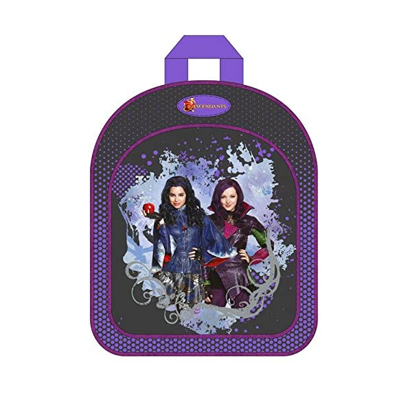 51TDRyZS5sL. SS600  - Descendientes Disney-Mochila 31 cm, diseño de Disney descendientes color morado