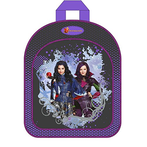 51TDRyZS5sL - Descendientes Disney-Mochila 31 cm, diseño de Disney descendientes color morado