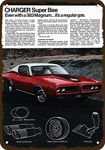 1974 Dodge Charger Super Bee 383 Magnum Car Vintage Look Replica Metal Sign 7