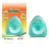AloeVedic Premium Aloe Vera Dental Floss PTFE 50 Metre - Non Shredding Tear Resistant - Gentle Dental Care Vegan Floss