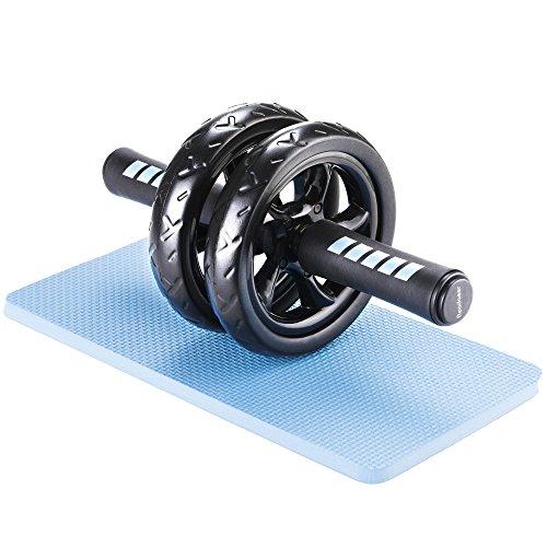 Readaeer Bauchtrainer AB Roller mit Dicker Knieauflage Beste Fitnessworkout für die Bauchmuskeln [MEHRWEG]