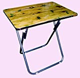 #9: Folding Tray Table Folding Camping Table Individual Place For Eating Working Or Crafting Durable Iron Frame Manufactured Wood Top With A Contemporary Finish Folds For Easy Storage Outdoor