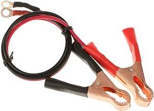 MEROURII Clip a Coccodrillo a Batteria 2PCS 20A 300V Terminale ad Occhiello per Cavo di Prolunga con Morsetto Batteria Clip a Coccodrillo Batteria per Inverter ad Alta Potenza Batteria per Auto
