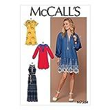 McCall 's Patterns Schnittmuster Kleider und Gürtel, mehrfarbige, große–2x Große