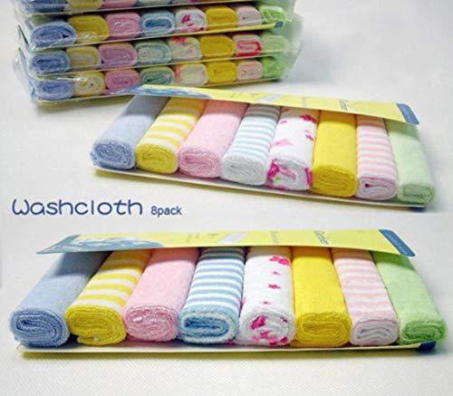 LINyiming-MAOJI01 Weiche Baumwolle Säuglings Neugeborenen Bad Kinder Baby Handtuch Waschlappen Fütterung Wischtuch 8 stücke -