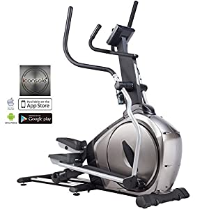 51TDULb%2BLtL. SS300  - AsVIVA E3 Pro Elliptical Trainer with App and Bluetooth Compatible, Magnetic Brake and Multifunction Computer and LCD Display, Silver