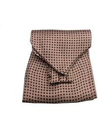 UOMO VARI ascot di seta foulard da collo CASHE COL BLU con disegni a FIORI  SETA 21e6823a5771