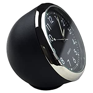 dooppa mini horloge analogique quartz pour tableau de bord de voiture style. Black Bedroom Furniture Sets. Home Design Ideas