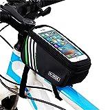 Gusspower Fahrrad Rahmentaschen Wasserdicht 5,5 Zoll Touchscreen Handy Tasche, Outdoor Radfahren Fahrrad Oberrohrtasche Schlauchbeutel Zubehör (Schwarz)