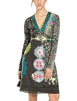 Desigual Women's VEST_GARE REP A-Line Long Sleeve Dress