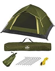 Lumaland Outdoor leichtes Pop Up Wurfzelt 3 Personen Camping robust verschiedene Farben
