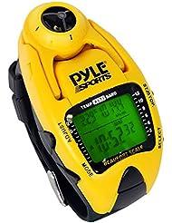 Pyle PSWWM90Y Wind Speed Meter con medidor de temperatura, altímetro, barómetro, brújula. Color: Amarillo