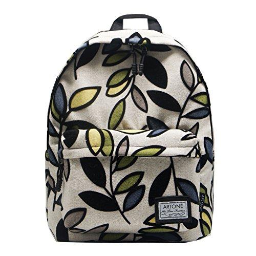 Artone Geometrisch Blumen Grösse Kapazität Gepolstert Rucksäcke Schulranzen Daypack Passen 14 Laptop Blau Weiß