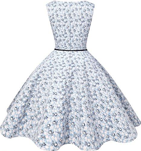 Bbonlinedress modèle 2 Vintage rétro 1950's Audrey Hepburn robe de soirée cocktail année 50 Rockabilly Little Flowers