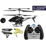 s-idee 01125 | L6029 - Helicóptero por control remoto (2,4 GHz, 3,5 canales, cámara, giroscopio) Para uso en interiores y exteriores. Lleva incorporada una hélice giroscópica y una cámara. Listo para volar.