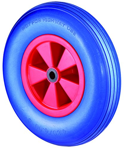 Preisvergleich Produktbild BS Rollen pannensicheres Schubkarrenrad, Rillenprofil, Radkörper Kunststoff, Rollenlager, 400 mm, D16.400