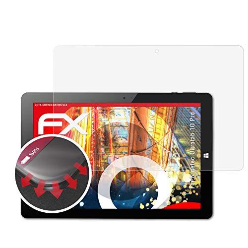 atFolix Schutzfolie passend für Ninetec Ultratab 10 Pro Folie, entspiegelnde und Flexible FX Displayschutzfolie (2X)