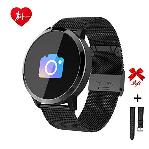 Ranguo smart watch per uomo e donna, bambini, bluetooth smart orologi impermeabile sport braccialetto intelligente per smartphone android e ios, supporto chiamata di promemoria e promemoria