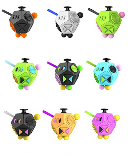 12 Sides Fidget Cube Spinner Toy Ball Stress Anxiety Relieves 2.0 (Green) -