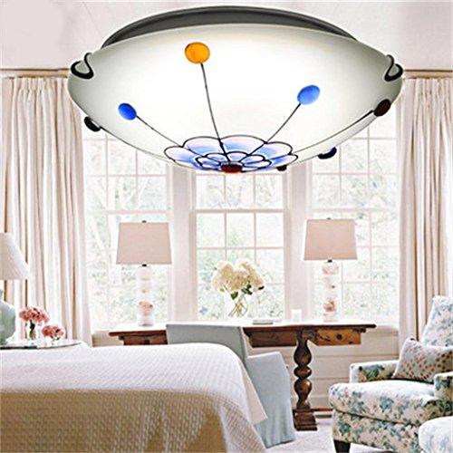 Europäische pastoralen Wohnzimmer Schlafzimmer Mittelmeer Gemalte Ölgemälde Deckenbeleuchtung Lampen amerikanische Kinder Leselampe -
